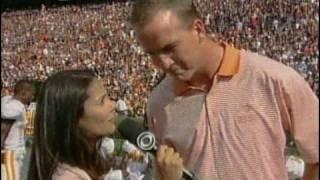 Peyton Manning interview at Tenn/Auburn game