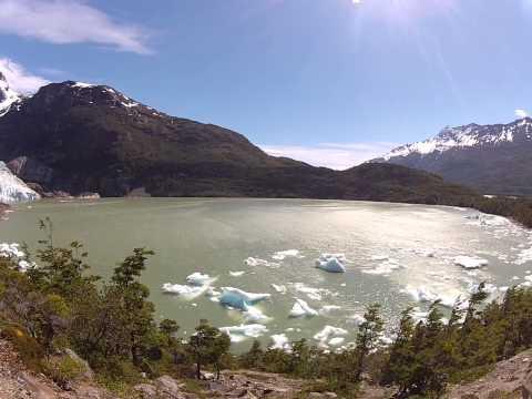 Serrano Glacier from the Trail!