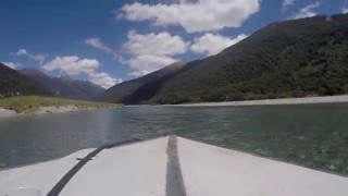 Jet boating New Zealand, Landsborough & Haast rivers