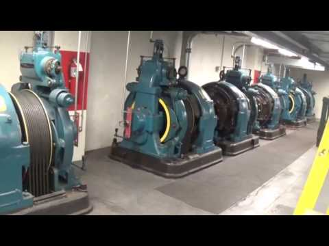 Elevator Tour - Oliver Building Elevator Machines with Dave from Otis elevator