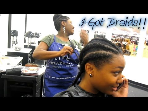 SALON EXPERIENCE: I Got Braids!! Watch Me Get Braided: Start to Finish!
