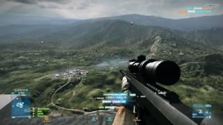 BF3 Caspian Border: Longest (961m) headshot on video HD