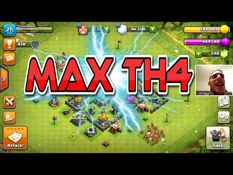 Clash Of Clans | MAX TOWN HALL 4 BASE!