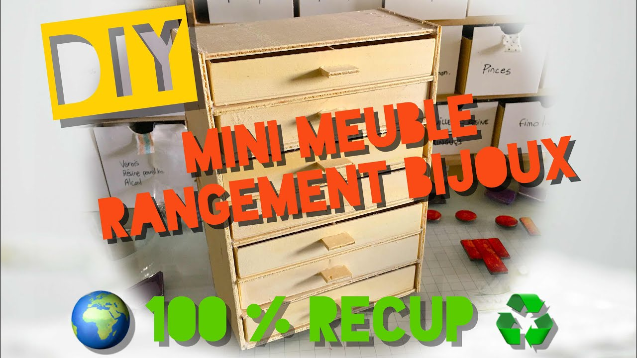 27 astuce r cup mini meuble pour ranger ses bijoux youtube. Black Bedroom Furniture Sets. Home Design Ideas