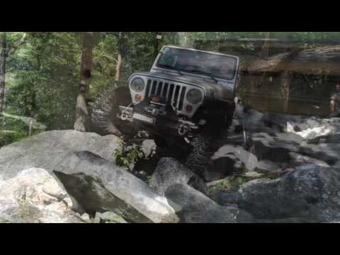 Jeep TJ s at Rausch Creek Riding Blue and Black trails