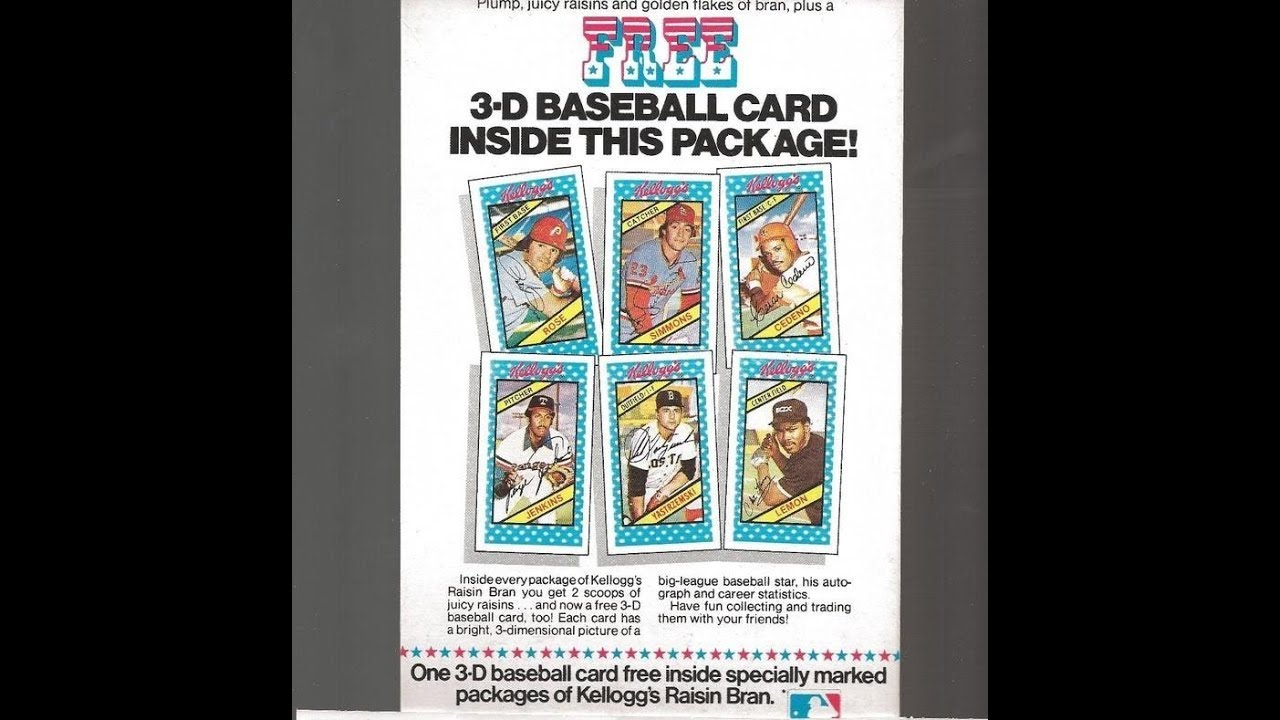 1980 Kelloggs 3d Baseball Card Set Tbt