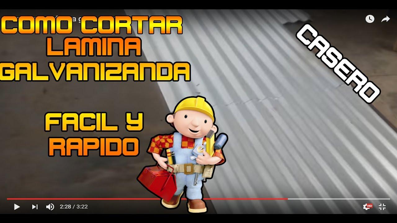 Como cortar lámina galvanizada fácil - YouTube