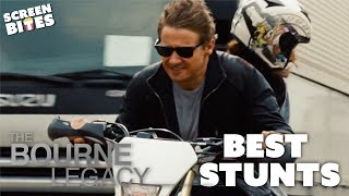 Jeremy Renner's Best Stunts   The Bourne Legacy   Screen Bites