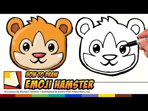 How to Draw a Cute Animals - Hamster Emoji for Beginners Step by Step | BP