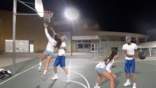 1V1 REMATCH AGAINST TRASH TALKING FEMALE STREETBALL HOOPER STEPHANIA BUT SHE ONLY HAS 1 HAND!