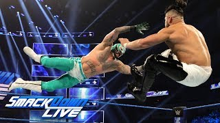 Rey Mysterio vs. Andrade 2 out of 3 Falls Match: SmackDown LIVE, Jan. 22, 2019