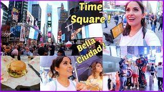 Mi Primera Vez en Time Square 😍 Visitando Varios Lugares + Nos agarro la Lluvia - ♡IsabelVlogs♡
