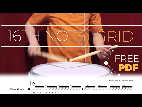 16th Note Grid  Snare Drum Exercise