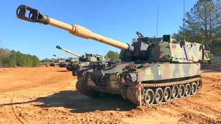 US Army - M109A6 155mm Self-Propelled Howitzer New Main Gun Test Firing [1080p]