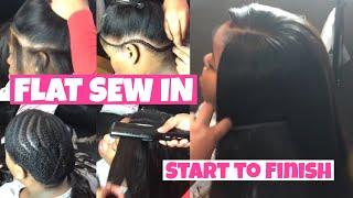 Natural FLAT Sew In ⭐️ Start to Finish