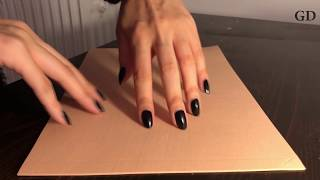 ASMR: Foam scratching with long natural nails