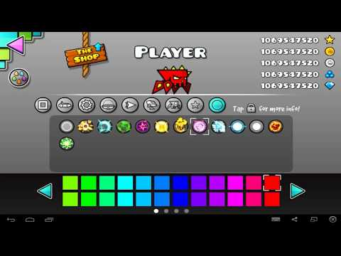 icons of geometry dash, ships, cycles, ufo, robots, spiders, death effects