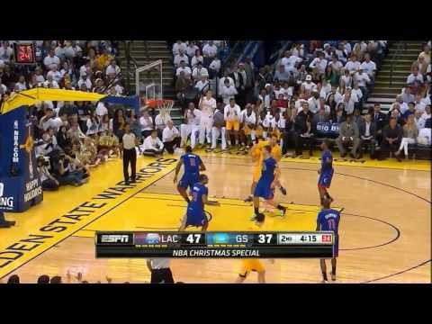 David Lee & Klay Thompson - 46 pts vs Clippers Full Highlights (2013.12.25)