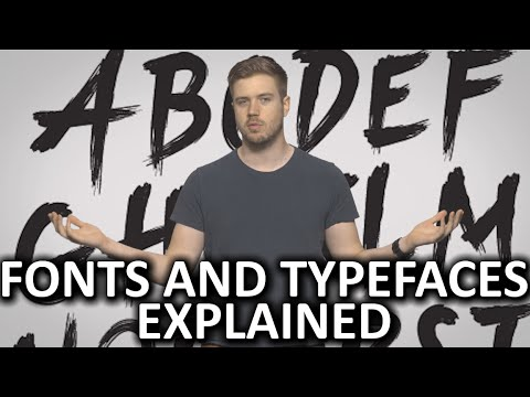 What are Fonts and Typefaces?