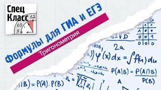 Формулы для ГИА и ЕГЭ. Часть 2. От bezbotvy. Тригонометрия(Формул по тригонометрии много, но нужно ли их знать, чтобы написать ЕГЭ на максимальный балл? В этом видео..., 2015-04-16T11:09:00.000Z)
