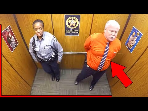 Cops Thought They Were Alone In Elevator, Doesn't Know Hidden Camera Is Recording His Every Move vi