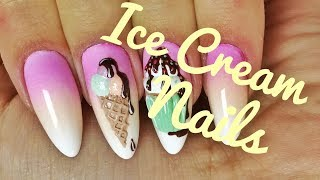 💅💅 Słodkie zdobienia 3D 💅💅 :: Ice Cream :: Nailart by Natalia