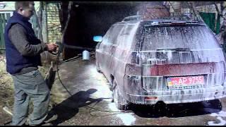 Автомойка Керхер.(Мойка авто Лада с помощью минимойки Керхер., 2014-07-22T05:07:34.000Z)