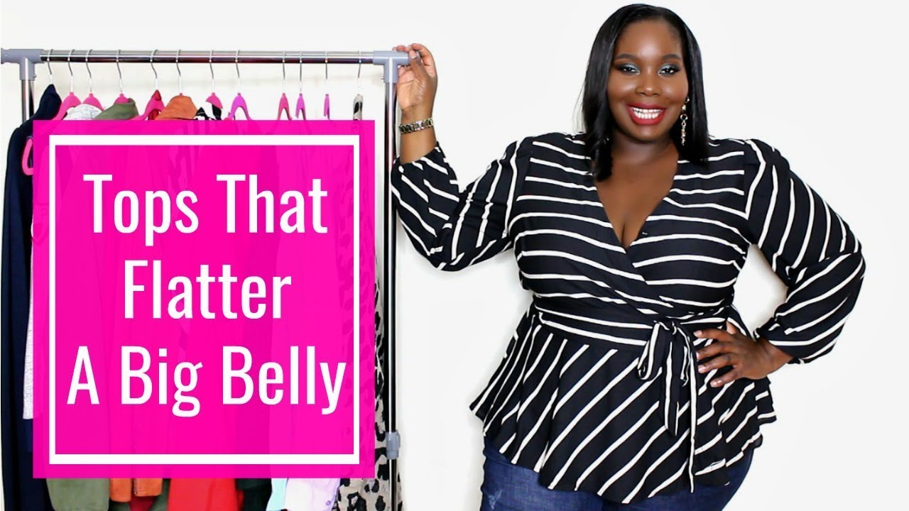 350bcf281d5 Plus Size Tops That Flatter A BIG BELLY - YouTube