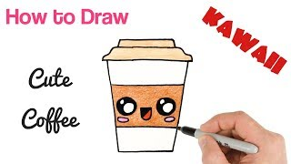 How to Draw a Cute Coffee Drink Super Easy