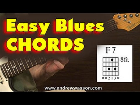 Easy Chords for Blues Guitar - YouTube