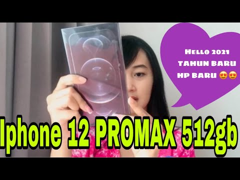 IPHONE 12 PROMAX 512gb  (UNBOXING HP BARU DI TAHUN BARU 2021) - YouTube