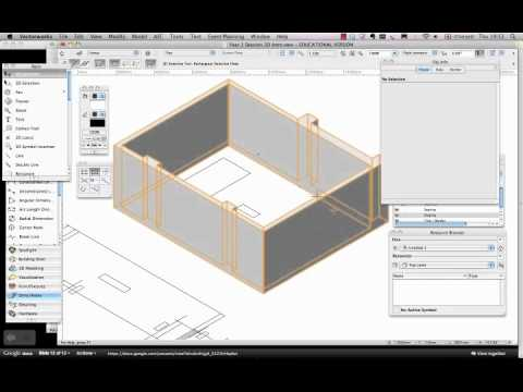 Vectorworks Spotlight Extrude A Drawing In 3d Youtube