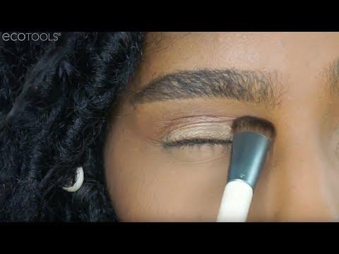 Wonder Impact Shadow Brush Makeup Tutorial   EcoTools