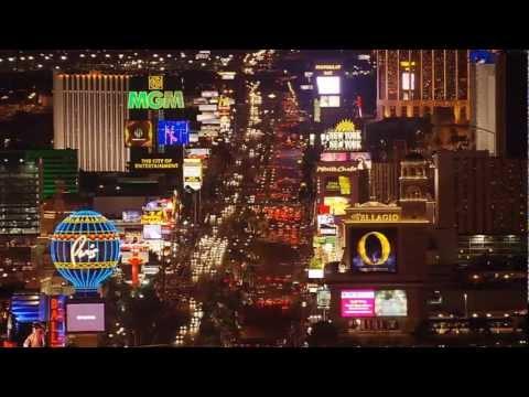 Las Vegas  de noche a vista de pájaro... HD