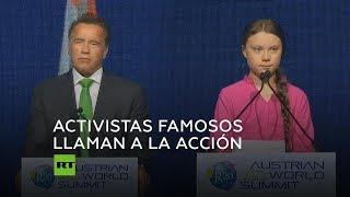 Greta Thunberg y Arnold Schwarzenegger sobre los cambios climáticos