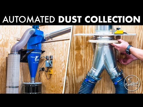 Installing An Automated Dust Collection System // How To - Woodworking