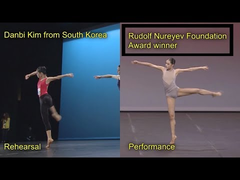 Ballet comparison: Danbi Kim's contemporary variation, rehearsal and performance