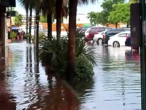 Charleston South carolina downtown streets flood by charleston market  06/11/13