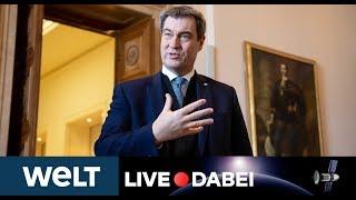 CORONAVIRUS IN BAYERN: MP Markus Söder zur aktuellen Covid-19-Lage und Ausgangsbeschränkungen
