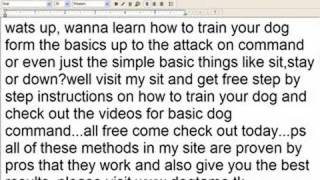 The Best Dog Training Methods Ever..free!!!train Dog To Attack Or Just The Basics