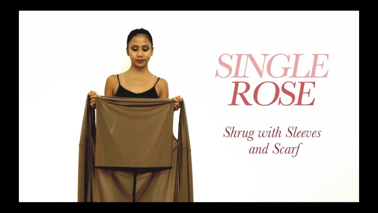 Purple Long Sleeve Shrug//Cover-Up Drape Scarf Tunic Cardigan  #BB-P