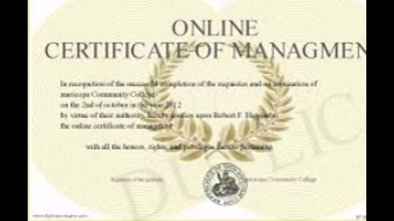 Sample online degree certificates youtube sample online degree certificates xflitez Choice Image