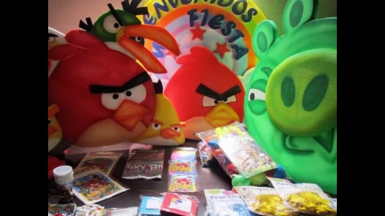 Decoracion fiesta tematica angry birds medellin youtube - Decoracion de platos ...