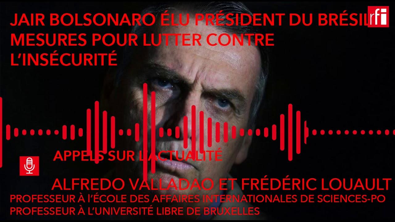 Jair Bolsonaro veut lutter contre l'insécurité au Brésil