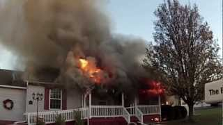 Working House Fire w/FireFighter Rescue, Great Mills, MD
