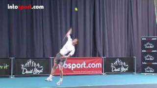 Tennis Serve- Topspin Serve Technique