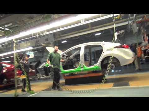 2015 Hyundai Sonata driven off the production line at Hyundai Manufacturing Motor Alabama