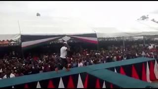 "Timmy Tdat performing ""usinikazie"" at Kenyatta University main campus."