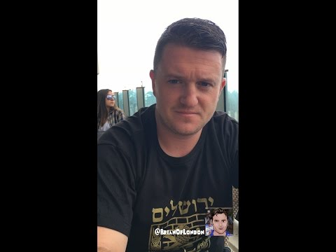 Tommy Robinson wrap up visiting Israel on beach in Tel Aviv - Nov 2016