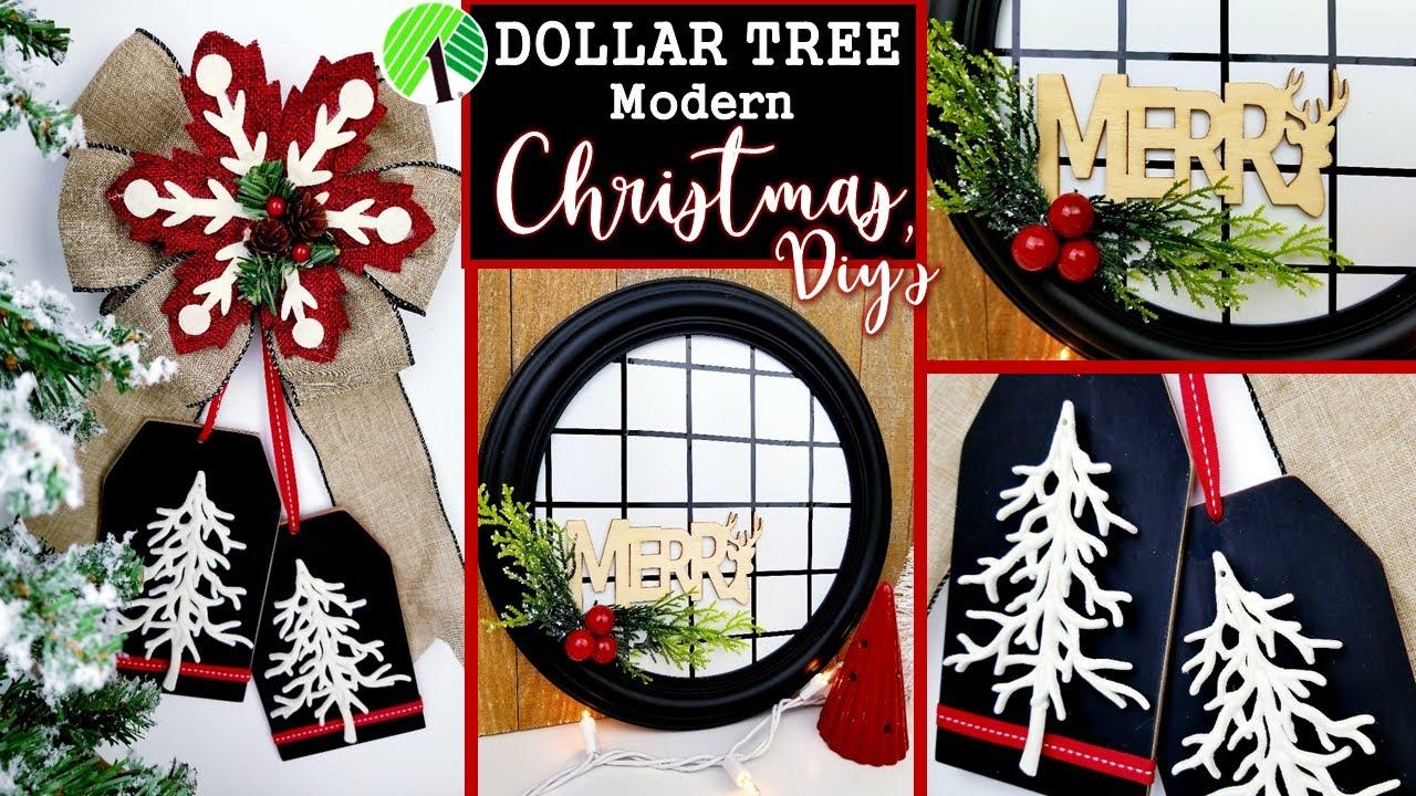 EASY DOLLAR TREE CHRISTMAS DIY'S   MODERN CHRISTMAS IDEAS